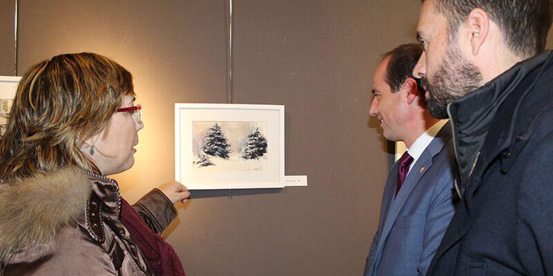 La sala de arte 'Antonio Buero Vallejo' acoge una exposición benéfica de la Asociación de Acuarelistas de Guadalajara
