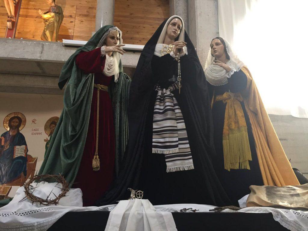 La V. H. de Ntra. Sra. de los Dolores y las Santas Marías celebra el martes 26 su primera prueba de andas