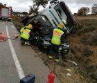 Mueren los tres ocupantes de un vehículo tras colisionar con una hormigonera en La Frontera