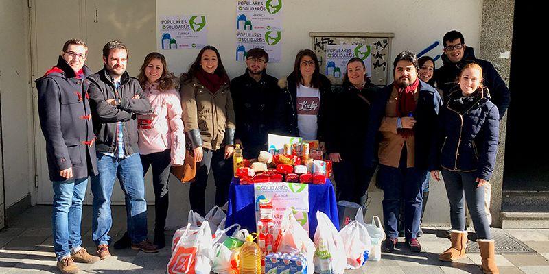 NNGG recoge 1.000 kilos de alimentos en Cuenca capital