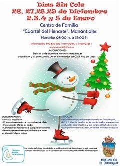Nueva convocatoria del programa Días sin Cole para las vacaciones de Navidad en Guadalajara