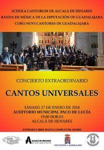 La Banda de la Diputación de Guadalajara, Novi Cantores y la Schola Cantorum ofrecerán el sábado un concierto en Alcalá de Henares