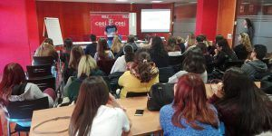 Los talleres para institutos del CEEI de Guadalajara comienzan con la visita del Colegio Diocesano Cardenal Cisneros