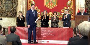 Prieto ve en la Mención Especial de los Premios Europa Nostra 2017 un acicate para seguir apostando por el patrimonio