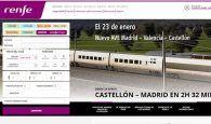 Renfe vende 1.345 billetes del nuevo AVE Madrid-Castellón, con parada en Cuenca
