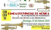 La Banda de la Diputación de Guadalajara y la de Brihuega ofrecen el domingo 25 un concierto conjunto