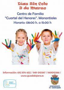 Nueva convocatoria del programa Días sin Cole del Ayuntamiento de Guadalajara para el 9 de marzo, Día de la Enseñanza