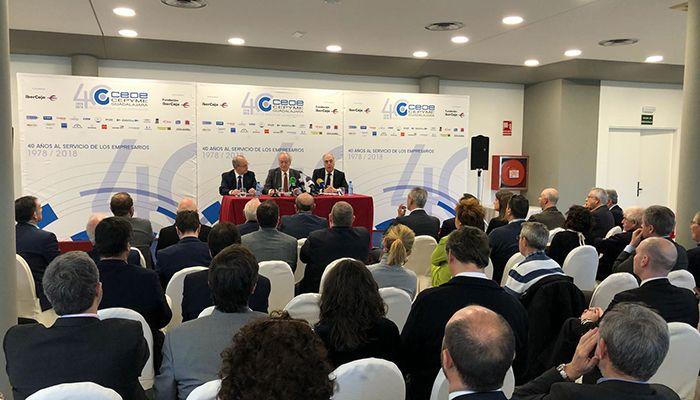 Agustín de Grandes presenta los actos conmemorativas del 40 aniversario de CEOE-Cepyme Guadalajara