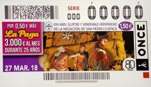El XXV Anniversario de la Negación de San Pedro, hoy en los cupones de la ONCE