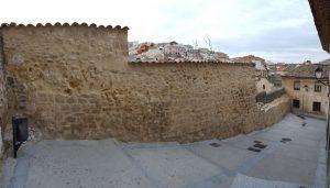 Finalizada la obra de intervención en los lienzos de la muralla medieval en la calle Santa Lucía