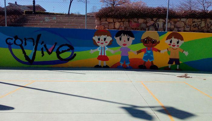 Finalizado el mural de la cancha deportiva de senda de los for Avisos de ocasion el mural guadalajara