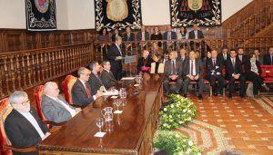 José Vicente Saz toma posesión como nuevo rector de la Universidad de Alcalá