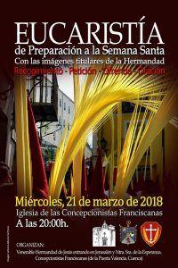 La Borriquilla celebra este miércoles en las Concepcionistas la segunda edición de la misa preparatoria para la Semana Santa