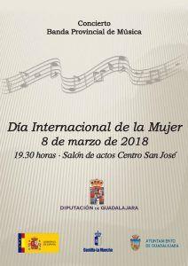 La Diputación de Guadalajara organiza un concierto de la Banda de Música para conmemorar el Día Internacional de la Mujer