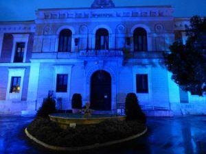 La Diputación de Guadalajara se suma al Día Mundial del Autismo iluminando de azul la fachada del Palacio Provincial