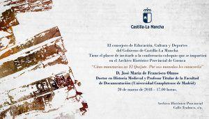 Las 'Citas monetarias en El Quijote. Por sus monedas les conoceréis' llegan a las conferencias del Archivo de Cuenca