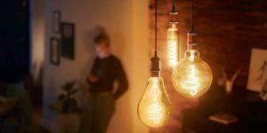 Luz elegante y acogedora con las nuevas bombillas LED de filamento gigante que no necesita tulipa