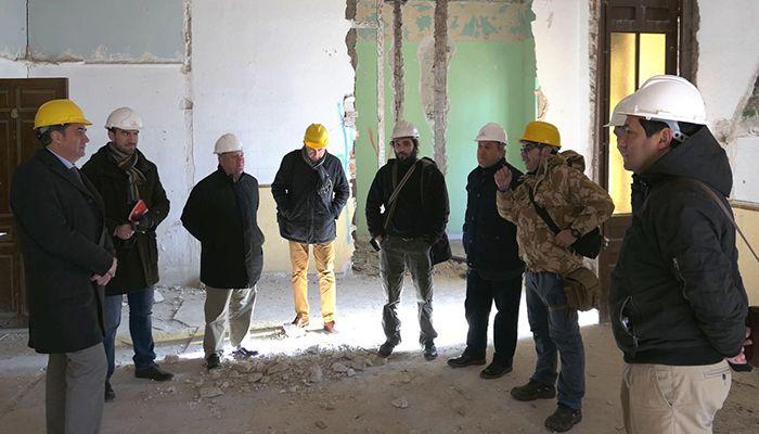 Mariscal visita las obras de Rehabilitación de la Casa del Corregidor