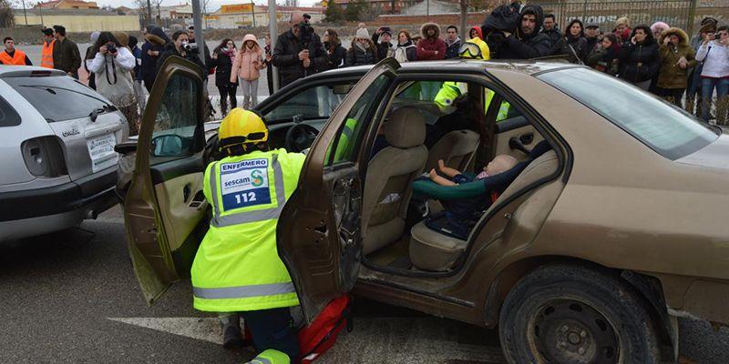 Más de 120 efectivos participan el simulacro de emergencias celebrado en Tarancón
