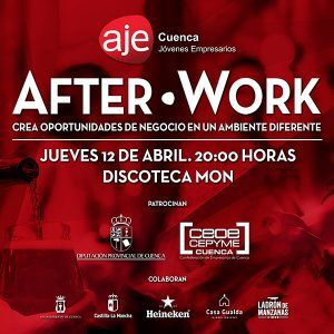 AJE Cuenca celabrará el próximo jueves 12 de abril su primer Afterwork para propiciar contactos entre empresas