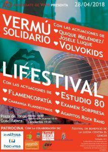 Concierto solidario LIFESTIVAL en Guadalajara para recaudar fondos para la lucha contra el cáncer