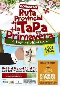 """Del 13 al 15 de abril, nueva oportunidad para disfrutar de la Ruta de la Tapa """"Viaje a la Alcarria"""""""
