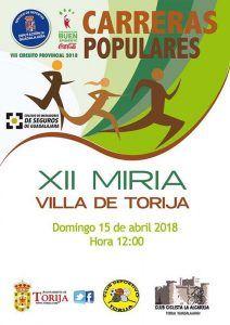 El domingo 15, XII Miria de Torija, primera prueba del Circuito de Carreras Populares de la Diputación de Guadalajara