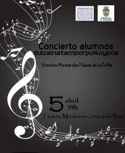 Este jueves, 5 de abril, audición de los alumnos de La Cotilla en el Moderno