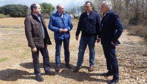 La Diputación de Guadalajara arregla 15 kilómetros del camino que va de Valdeaveruelo a Usanos