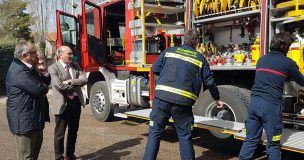 La Diputación de Guadalajara compra un nuevo camión de bomberos para el Parque de Sigüenza