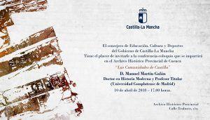 Las Comunidades de Castilla llegan al ciclo de conferencias del archivo de Cuenca