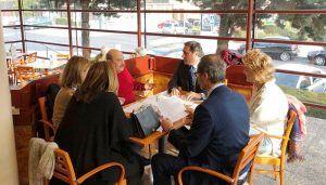 Mariscal se reúne con un grupo de vecinos de Princesa Zaida para explicarles las medidas para mejorar la movilidad