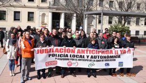 Nueva concentración en Cuenca para exigir la aprobación del decreto de jubilación anticipada de los policías locales