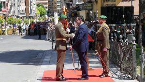Toma de mando del nuevo jefe de la Agrupación de Transporte n.º 1, muy vinculada a Cuenca