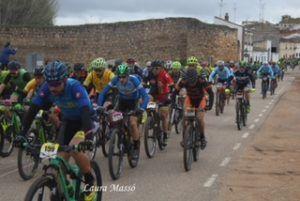 Xavier Calaf y Carla Fernández ganan en Belmonte en la tercera prueba del XI Circuito MTB Diputación de Cuenca