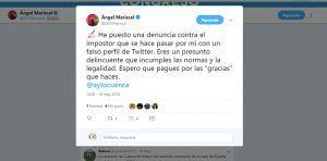 El alcalde de Cuenca denuncia a un presunto delincuente por suplantar su identidad en twitter