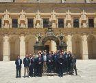 Prieto acompaña a la Real y Militar Orden de San Hermenegildo en la celebración de su Asamblea ordinaria en el Monasterio de Uclés