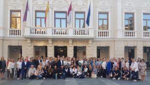 Representantes de la Unión Europea de Gimnasia visitan Guadalajara y son recibidos en el Ayuntamiento por Antonio Román