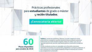 Telefónica incorporará a 60 universitarios y recién titulados para complementar su formación con las becas Talentum