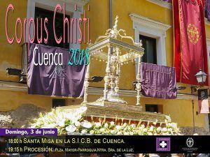 Todo listo para la procesión del Corpus, que recorrerá las calles de Cuenca este domingo 3 de junio a partir de las 1915h