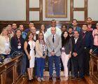 Un grupo de universitarios hispanoamericanos visitan la Diputación de Guadalajara