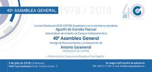 CEOE-Cepyme Guadalajara celebrará su 40 Asamblea General con la presencia de Antonio Garamendi