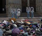 """Cientos de evacuados """"cinematográficos"""" piden en Cuenca un cambio en el modelo energético europeo"""