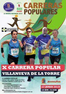 El domingo 17 se celebrará X Carrera Popular de Villanueva de la Torre, quinta prueba del Circuito Diputación de Guadalajara