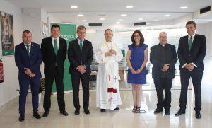 El obispo emérito bendice la primera oficina de Eurocaja Rural en Alicante