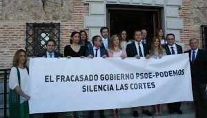 El PP denuncia que el fracasado Gobierno de Page y Podemos silencia las Cortes de Castilla-La Mancha