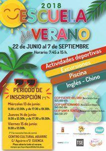 El próximo miércoles comienza el plazo de inscripción para la Escuela de Verano en Cuenca