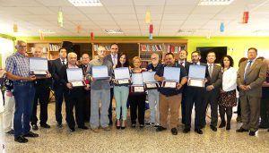 El reconocimiento a los trabajadores recién jubilados marcan la festividad del Sagrado Corazón de Jesús de la Diputación de Cuenca