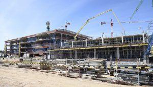 Más de 150 personas trabajan en estos momentos en la obra del nuevo Hospital Universitario de Cuenca