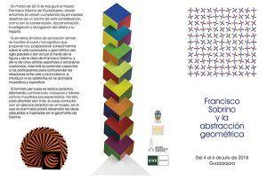 """Patronato Municipal de Cultura, UNED y  Asociación Amigos del Museo Francisco Sobrino, organizan el curso monográfico  """"Francisco Sobrino y la abstracción geométrica"""""""